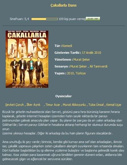 Çakallarla Dans - 2010 DVDRiP AC3 DD5.1 Tek Link indir