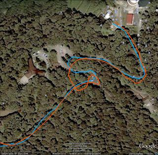 Lagvić - cesta; usporedba mjerenja Garmina 305